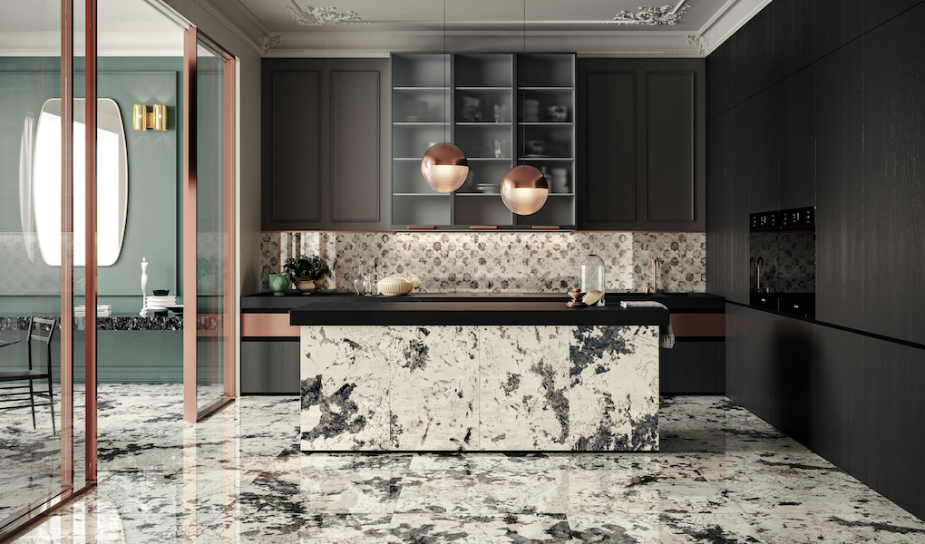 PRECIOUS PATTERNS FOR INTERIOR DESIGN SURFACES: OPULENCE BY CERAMICHE PIEMME
