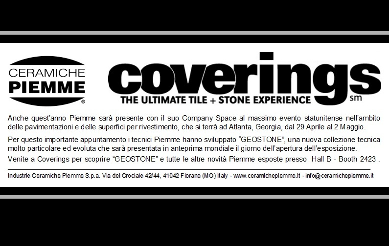 Piemme at Coverings Atlanta from April 29 to May 2
